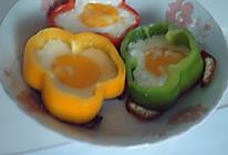 彩椒圈太阳花煎蛋 的做法