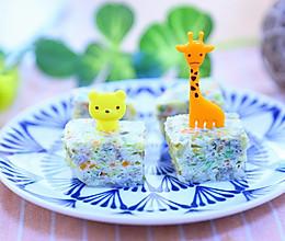 银鱼紫菜鸡蛋糕 宝宝辅食食谱的做法