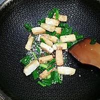 香菇油菜炒豆腐#花10分钟,做一道菜!#的做法图解8