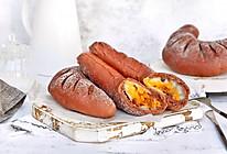 可可红薯麻薯软欧包#美味烤箱菜,就等你来做!#的做法