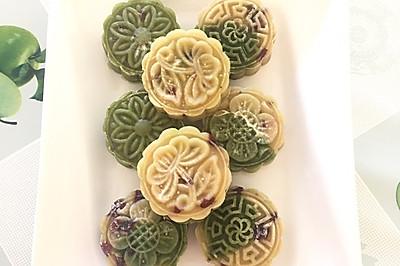纯天然蔓越莓绿豆糕