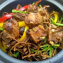 干锅茶树菇排骨
