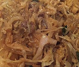 东北酸菜炒粉的做法