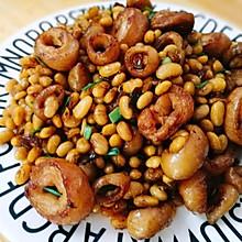 黄豆爆炒肥肠