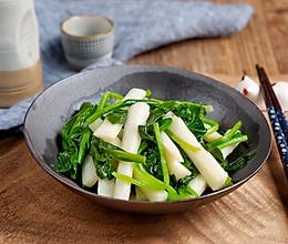菠菜炒山药的做法