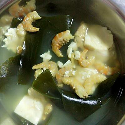 虾米豆腐海带汤