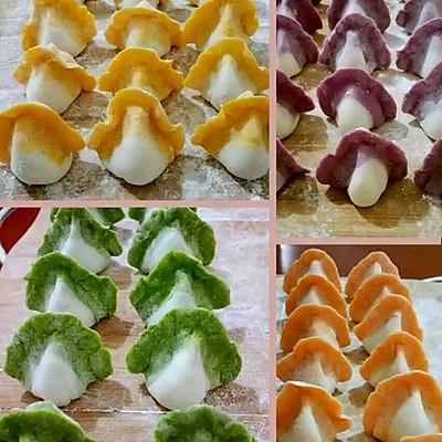 超级彩色饺子。。