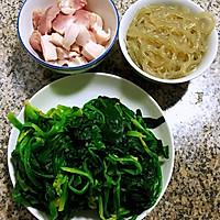 #一道菜表白豆果美食#粉条鲜肉菠菜汤的做法图解2