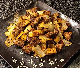 炒烤牛肉粒的做法