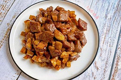 黑椒杏鮑菇牛肉粒