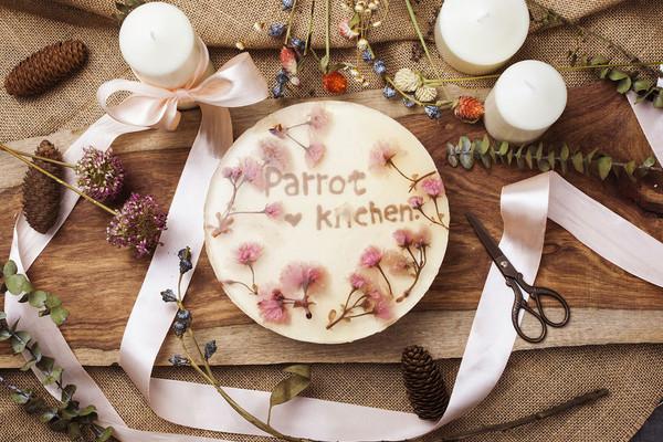 【鹦鹉厨房】樱花冻芝士蛋糕的做法