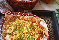蚝油鸡蛋鲜蔬炒饭。的做法