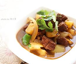 红烧牛肉炖配洋葱土豆#黑人牙膏一招制胜#的做法