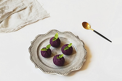 紫薯茶巾绞