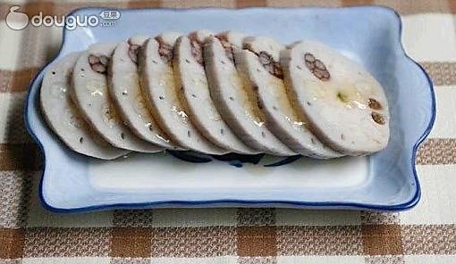 蜜汁糯米藕的做法