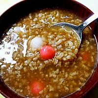 红糖糯米圆子粥的做法图解1
