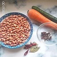 #快手又营养,我家的冬日必备菜品 #胡萝卜拌花生米的做法图解1