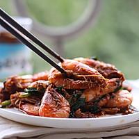 香菇酱烧基围虾的做法图解11