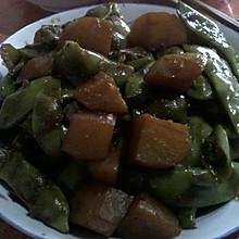 红烧土豆+豆角