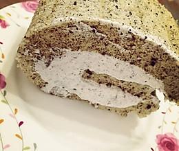 麻麻黑·黑芝麻蛋糕卷的做法