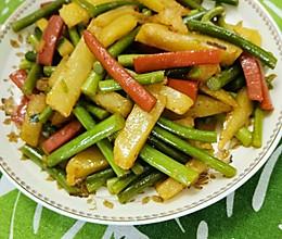 新三鲜(蒜苔火腿土豆条)的做法