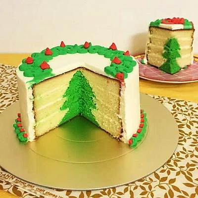3D圣诞树蛋糕