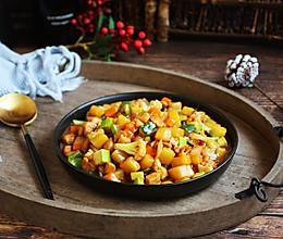 #520,美食撩动TA的心!# 鸡丁炒杂蔬的做法