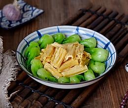 腐竹炒油菜的做法