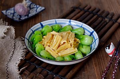 腐竹炒油菜