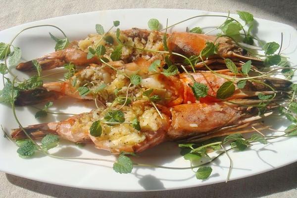橄榄油焗烤对虾的做法