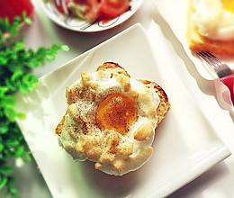 早餐日记~云朵吐司蛋的做法