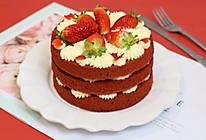 甜蜜告白---红丝绒裸蛋糕的做法
