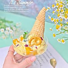 #以美食的名义说爱她#芒果蔓越莓冰淇淋