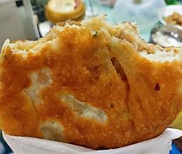 不用揉面就能做的超级松软酥脆的莲藕马蹄猪肉煎饼的做法