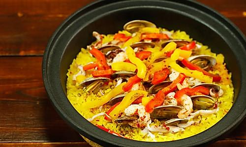 料这么足的海鲜烩饭,也只有在家才能吃到了!的做法