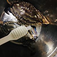 香辣梭子蟹烩年糕的做法图解4