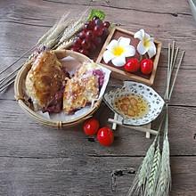#换着花样吃早餐#快手版手抓饼之爆浆紫薯芝士饼