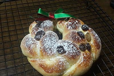 圣诞小花环面包