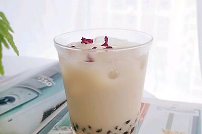自制玫瑰奶茶,零添加更好喝,秒杀奶茶店