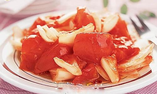 洋葱烧番茄的做法