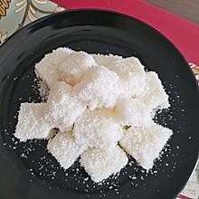超简单甜品 无糖椰蓉牛奶小方