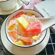 #美食新势力#夏季解暑甜品,西米水果捞,简单易学,甜而不腻