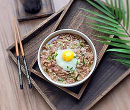 下饭神器:窝蛋榨菜蒸肉饼的做法