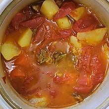 番茄土豆牛腩煲