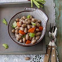 芹菜胡萝卜拌花生
