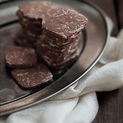 巧克力杏仁切片饼干
