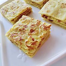 #快手又营养,我家的冬日必备菜品#榴莲爱上芒果,榴芒薄饼