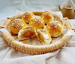 白豆沙蛋黄酥的做法