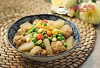 杂蔬冬瓜烧土豆丸的做法