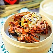 #快手又营养,我家的冬日必备菜品#很快的菜清蒸大闸蟹